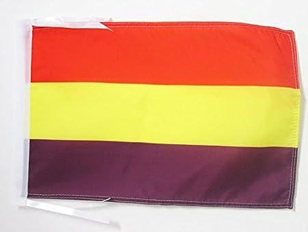 AZ FLAG Bandera ESPAÑA Republicana SIN Escudo 45x30cm - BANDERINA DE LA Republica ESPAÑOLA 30 x 45 cm cordeles: Amazon.es: Hogar