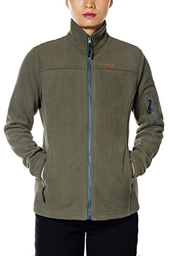 - Nonwe Women's Fleece Jacket Outdoor Trekking XS Green