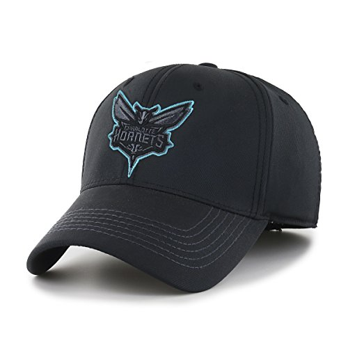 - OTS NBA Charlotte Hornets Wilder Center Stretch Fit Hat, Black, Medium/Large