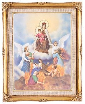 Our Lady of Mount Carmel Framed Art by Discount Catholic Store