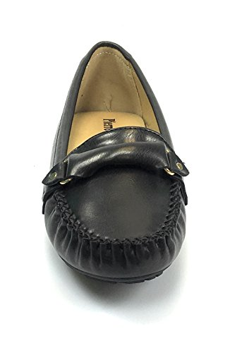 Pierre Dumas Kvinna Hassel-7 Svarta Läder Dagdrivare Bekväma Skor (8, Svart / Tashia2)