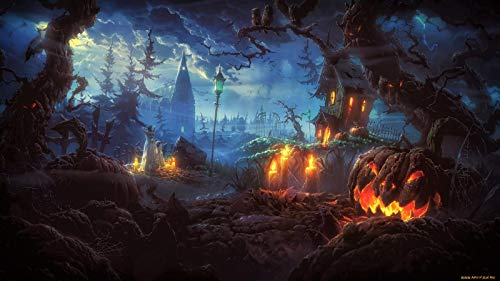 The History Of Halloween Article (Classic Jigsaw Puzzles 1000 Pieces Adults Puzzles Wooden Puzzles Horror Halloween Night DIY Home Decor)