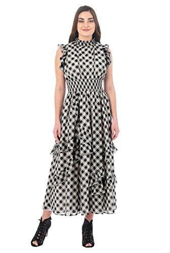Georgette Ruffle Dress - 3