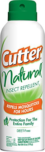 Cutter Natural Insect Repellent2, Aerosol, 6-Ounce