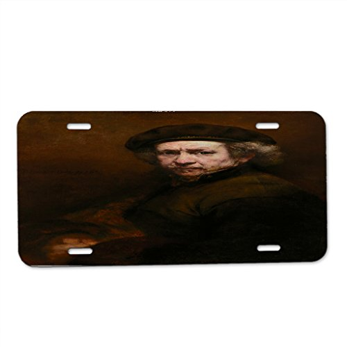 Rembrandt Van Rijn Self-Portrait - Car Tag License Plate