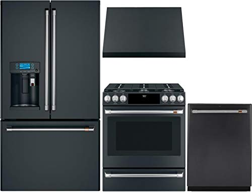 GE CAFE 4 Piece Smart Kitchen Package with CFE28UP3MD1 36