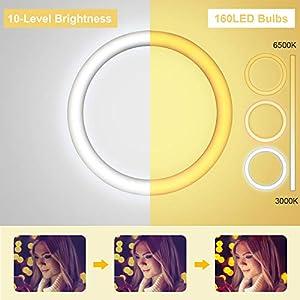 Aro de Luz led con tres modos de luz y diez intensidades