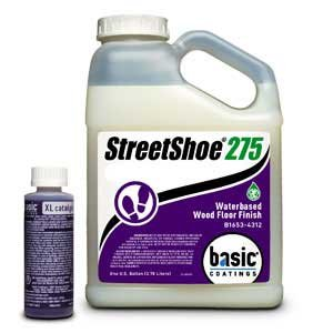 Basic Coatings STREETSHOE® Waterbased Wood Floor Finish Semi-Gloss 1 Gallon