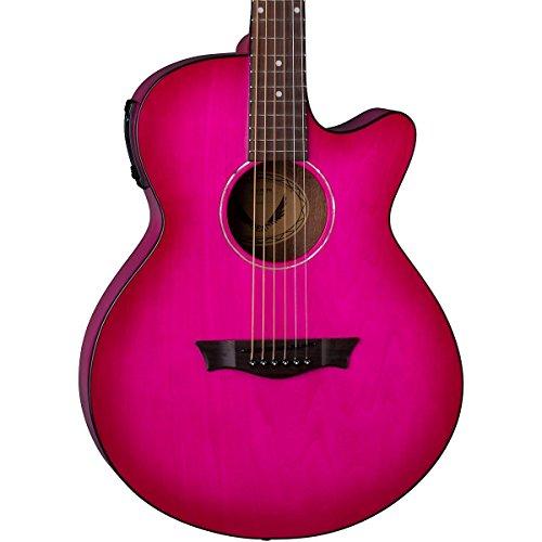 Dean AX PE PB Acoustic-Electric Guitar, Pink Burst (Pink Cutaway Acoustic Guitar)