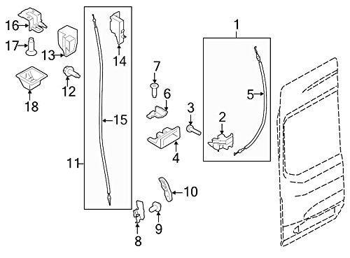 Ford Oem Door Latch Assembly Ek4z6143287a Image 11