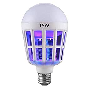Electric USB LED Light Anti Mosquito Killer Fly Bug Insect Zapper Trap Tool White