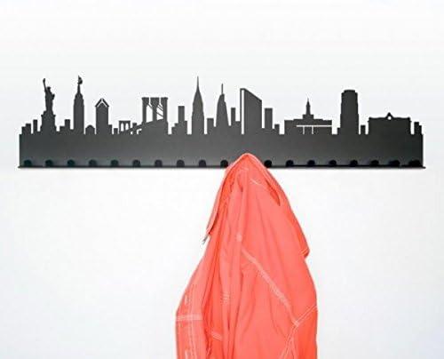 New York Gris Oscuro//Acero pulverizado Radius Perchero Ciudad