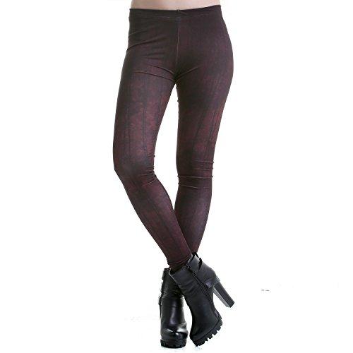 Legging Negro y Granate