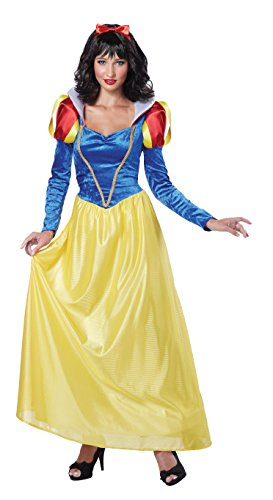 California Costumes Women's Snow White,Blue/Yellow, Medium Costume ()