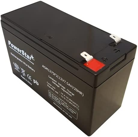WKA12-7.5F Sealed Battery Replacement for 12V 7.5AH 8ah 9AH F2//F1-2 Year Warranty Free Replacement
