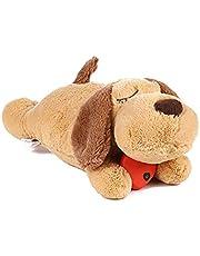 LYEAA Snuggle pluche speelgoed voor hond, puppy hartslag dekbed, gedragstraining pop hond speelgoed hulp met hond scheiding, angst, blaffen, stress verlichting, onweer en meer