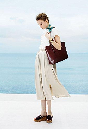 Bolso De Genuino Panzexin De Elegante Bolsos Bolsos Cuero Mujer De Gris De Mujer De Moda De Hombro Mujer Bolsos De TwwaCqA