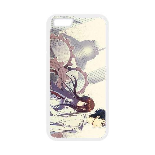 Steins Gate coque iPhone 6 4.7 Inch cellulaire cas coque de téléphone cas blanche couverture de téléphone portable EEECBCAAN01513