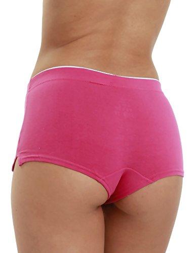 Boxershorts Baumwolle Lisamoda Remixx Pack Damen Stretch Mehrfarbig 4er