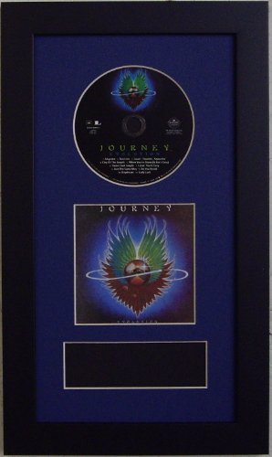 Frames for Cd Disc, CD Booklet and Concert Ticket. Featuring a DARK BLUE Mat Design with Black Moulding