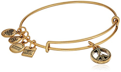 Alex and Ani Charity by Design, UNICEF Peace Rafaelian Gold Bangle Bracelet
