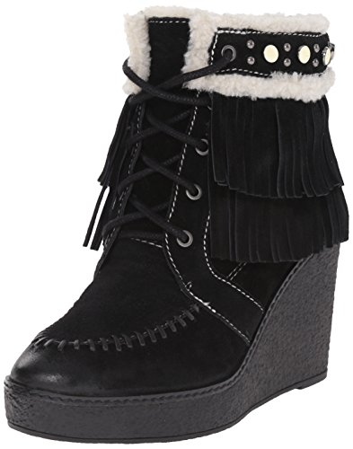 Sam Edelman Women's Kemper Boot, Black/Ivory, 8.5 M (Kemper Boot)