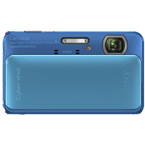Sony Cyber-shot DSC-TX20 16.2 MP Exmor R CMOS Digital Camera with 4x Optical Zoom and 3.0-inch LCD (Blue) (2012 Model) (Sony Waterproof Camera)
