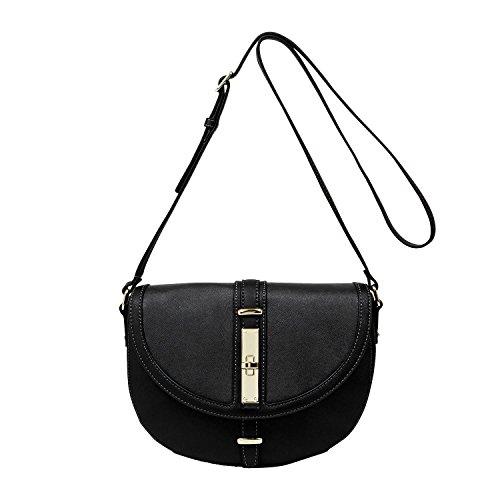 Nine West Handbags Texture Takedown Crossbody Purse, Black
