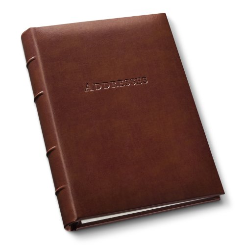Gallery Leather Desk Address Book Acadia Tan by Gallery Leather