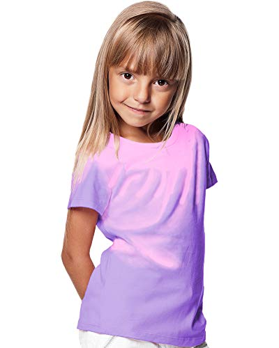 Shadow Shifter Kids Heat Reactive Color Changing T-Shirt SMARTWEAR (YM, Bright Purple) ()