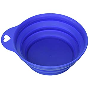 Large Collapsible, Lightweight, and Portable Pet Food & Water Bowl 64