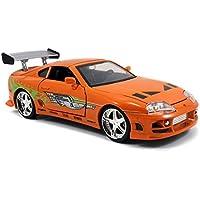 Jada Toys Fast & Furious 1 24 Diecast Toyota Supra Vehicle (Orange)