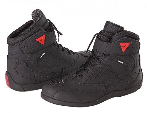 Modeka CITY RIDER Motorradstiefel Leder/Textil - schwarz Größe 45