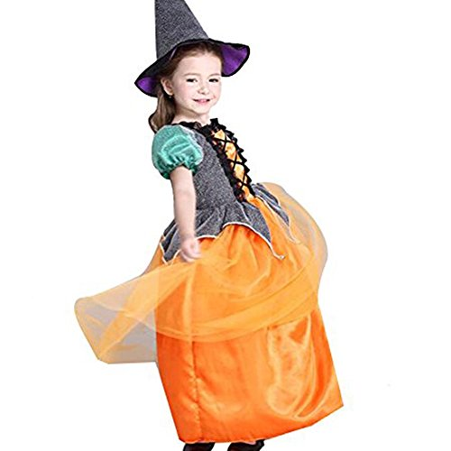 orange witch dress - 7