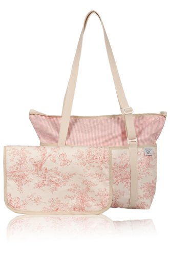 Pink Toile Changing Pad - Original Diaper Bag (Pink Toile)