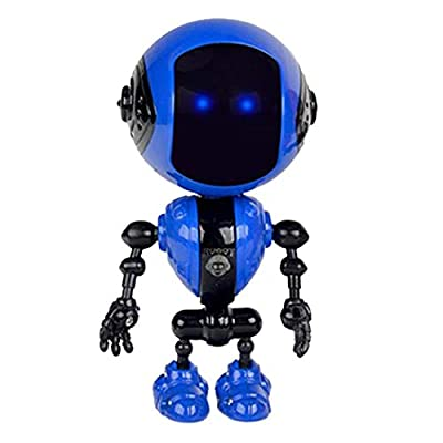 hevare Mini Alloy Robot Toy Lighting Voice Smart Induction Joint Children Gift Remote- & App-Controlled Figures & Robots: Toys & Games