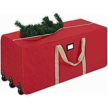Amazon.com  Simplify Rolling Duffle Bag Christmas Tree Storage Bag ... 4fdbc4e48bc88