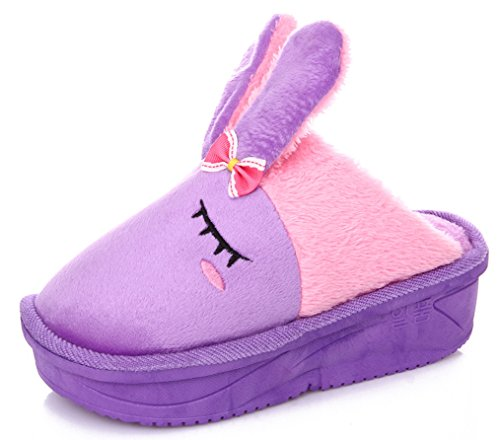Blubi Womens Fashion Animal Slippers Doll Slippers Purple dTlNGuvy