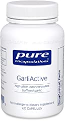 GarliActive high-allicin garlic is grown and gently dehydrated in a patent pending proprietary process to preserve key compounds while eliminating characteristic garlic odor. GarliActive contains a natural alkalizing matrix consisting of calcium, mag...