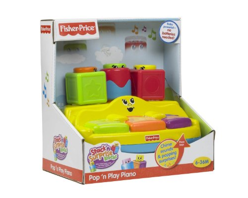 Fisher-Price Stack 'n Surprise Blocks Peek-A-Boo Piano