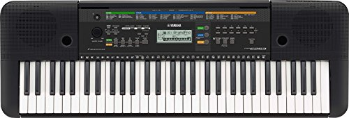 Yamaha PSRE253 61 Key Full Sized Portable Keyboard with Aux Line Input Black