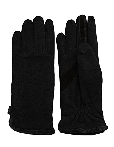 Isotoner Women's Smarttouch Fleece Glove, Black