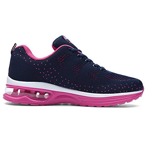RomenSi Womens Air Athletic Running Sneakers Fashion Breathable Sport Gym Walking Tennis Shoes (US5.5-10 B(M) 4