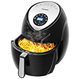 Air Fryer 5.8 Quart/5.5L/XXXL 1700w, homegeek Digital Air Fryer Touch Screen 7 in 1 with Cookbook for Family of 5 include Temperature Control, 60min Timer, Non-stick Dishwashable Basket For Sale