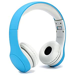 Kids Headphone, Anble Over the Ear Wired Headsets with Microphone, 93dB Volume Limited, 3.5mm Audio Jack, Toddler Foldable Children Headphones for iPhone iPad iPod Laptop Fire 7 8 - Blue
