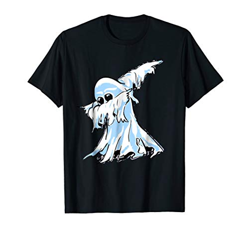 Dabbing Ghost T-Shirt | Funny Halloween Ghost Doing