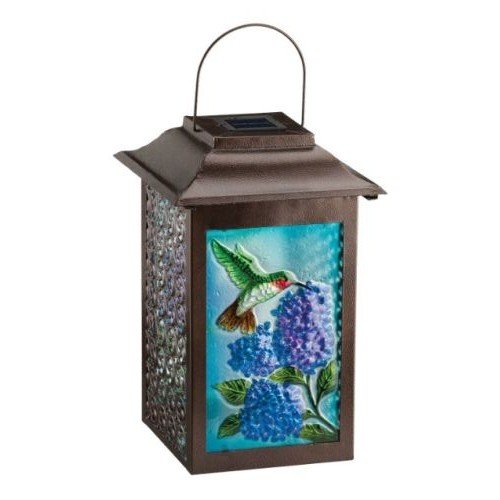 Regal Arts SS-Rag-11471 16.5 Inch Solar Garden Hummingbird Lantern by Regal Arts