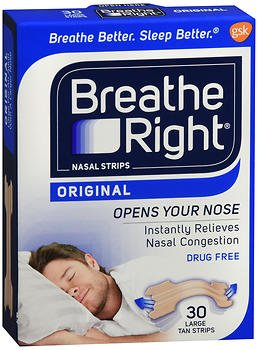 Breathe Right Nasal Strips Original Tan Small/Medium 30 ea (Pack of 3) by Breathe Right