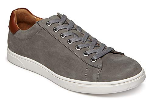 Vionic Men's Mott Baldwin Lace-up Sneaker - Casual Everyday Shoes for Men with Concealed Orthotic Support Charcoal Nubuck 11 Medium US (Best Sneakers For Orthotics)