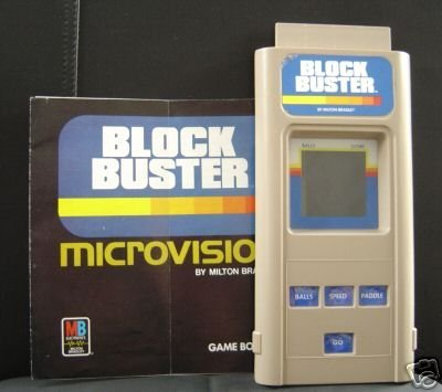 Microvision Game System With Block Buster Cartridge